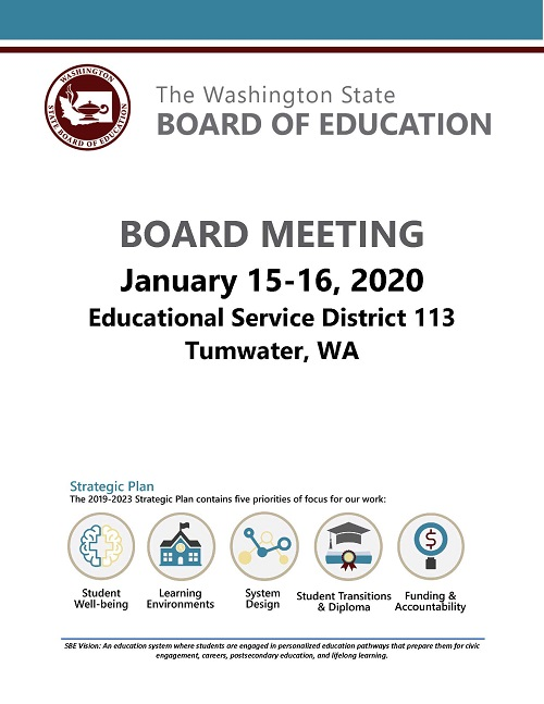 SBE Meeting: Tumwater, January 15-16
